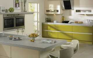 Кухня оливкового цвета