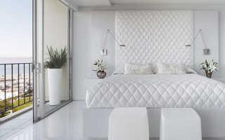 Дизайн белой спальни