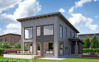 Одноэтажный дом с односкатной крышей проекты