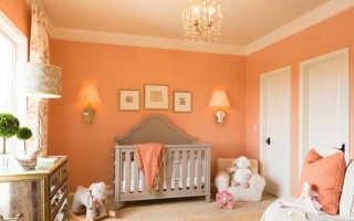 Персиковый цвет в интерьере и его сочетания