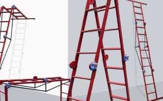 Выдвижная лестница на второй этаж