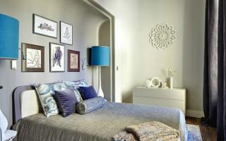 Дизайн изголовья кровати и стены в спальне