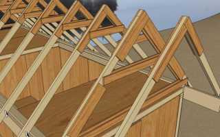 Двускатная крыша стропильная система под профнастил