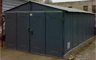 Как построить металлический гараж?