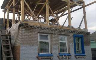 Второй этаж на крыше частного дома