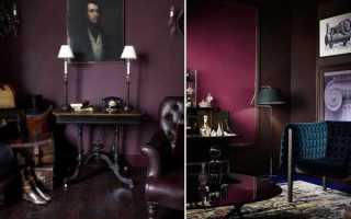 Фиолетовый цвет в интерьере и его сочетания с другими цветами
