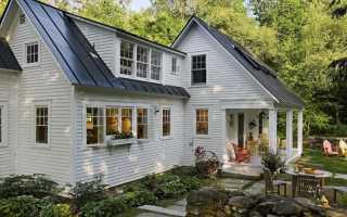 Дом с двускатной крышей фото