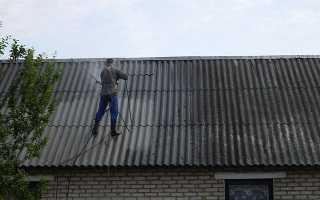 Чем покрасить шифер на крыше?