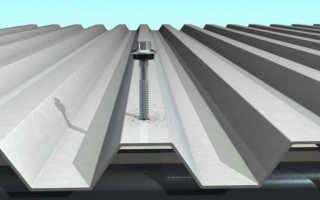 Как правильно крепить профлист на крыше