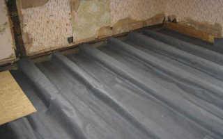 Гидроизоляция для пола в деревянном доме