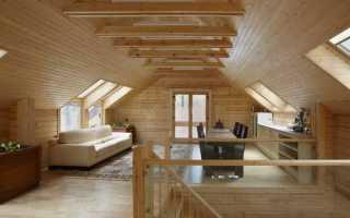 Дизайн мансарды с двускатной крышей