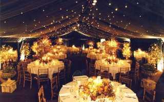 Декор свадебного зала своими руками