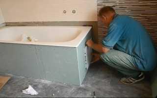 Как зашить ванну гипсокартоном?