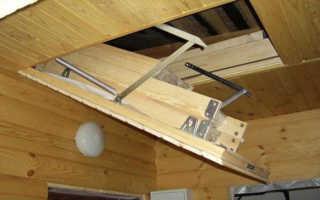 Как сделать люк в потолке на чердак?