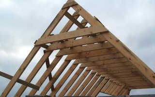 Наслонная стропильная система двухскатной крыши