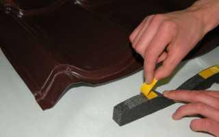 Коньковый уплотнитель для металлочерепицы