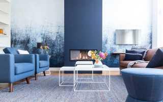 Голубой цвет в интерьере и его сочетания