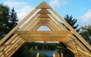 Висячая стропильная система двухскатной крыши