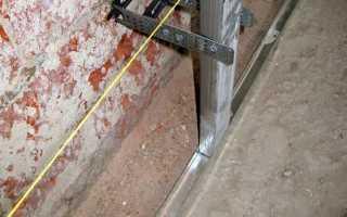 Как крепить металлопрофиль к стене?