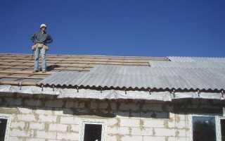 Как крепить шифер на крышу