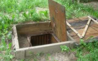 Устройство погреба своими руками на даче в частном доме