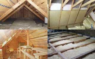 Как правильно утеплить крышу в бане?