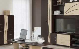 Изящная мебель венге в интерьере современной квартиры