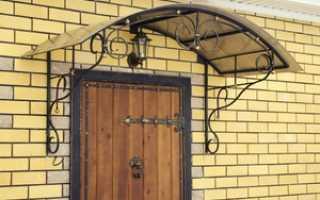 Фото козырьков над входной дверью