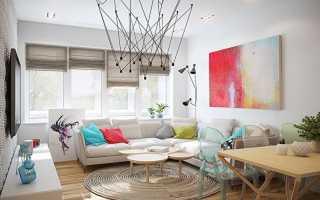 Современный дизайн штор для гостиной