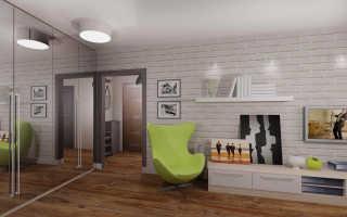 Дизайн однокомнатной квартиры п