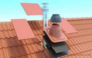 Как провести дымоход через крышу?