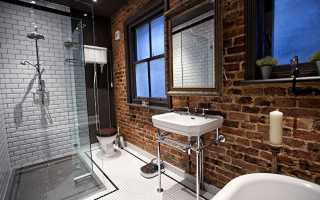Дизайн ванной в стиле лофт1