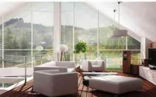 Одноэтажные дома с большими панорамными окнами