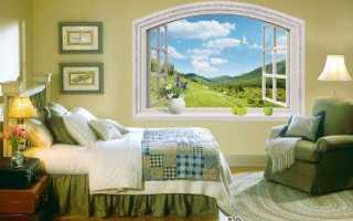 Имитация окна в интерьере или декоративное фальш окно