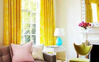 Желтый цвет в интерьере и его сочетания с другими цветами