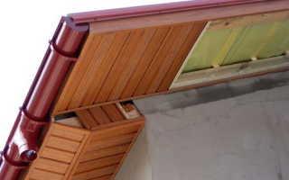 Отделка карнизов крыши софитом