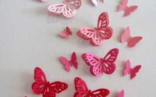 Декор стен бабочками своими руками