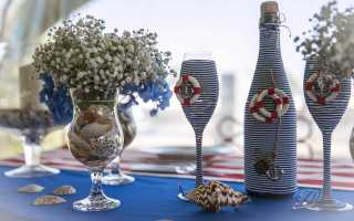 Декор бутылок шпагатом своими руками