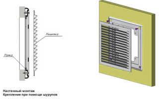 Как правильно установить вентиляционную решетку фото