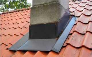 Гидроизоляция дымохода на крыше