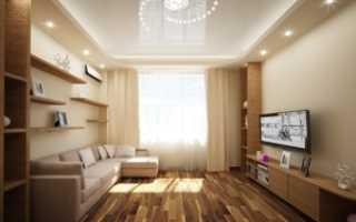 Дизайн гостиной 19 кв м