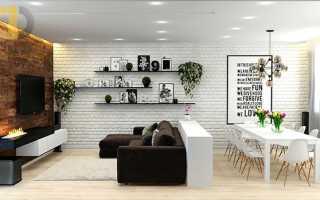 Оформляем интерьер маленькой квартиры в стиле лофт