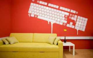 Рисунки на стенах в интерьере