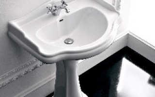 Стандартная высота раковины в ванной1