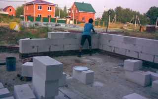 Как построить дом из пеноблока