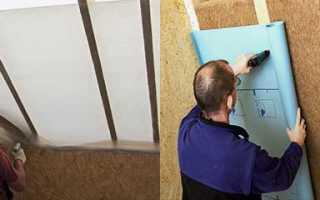 Какой стороной класть пароизоляцию на потолок