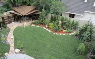 Дизайн участка загородного дома 10 соток своими руками
