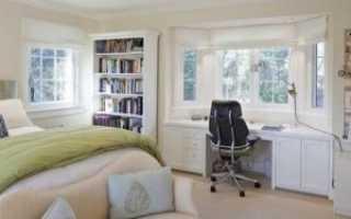 Дизайн спальни с кабинетом1