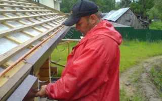 Крепление карнизной планки к обрешетке ската крыши