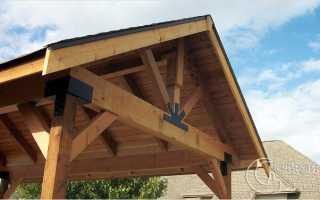 Как сделать крышу в беседке?